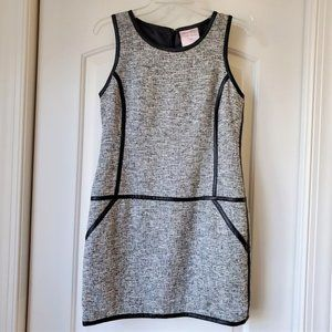 Romeo & Juliet Couture Faux Leather Tweed Dress
